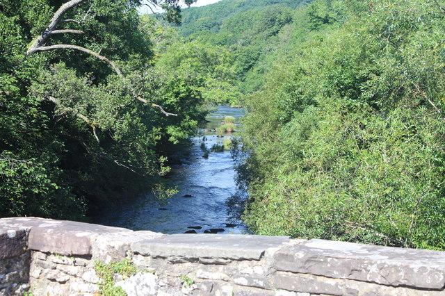 River Usk downstream from Llangynidr Bridge