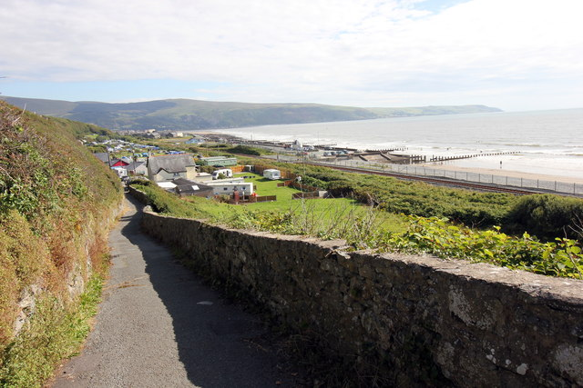 The Wales Coast Path approaching Barmouth