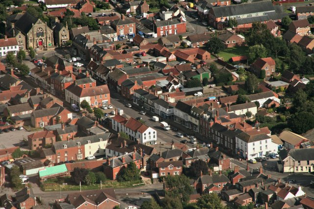 Historic centre of Spilsby: aerial 2017