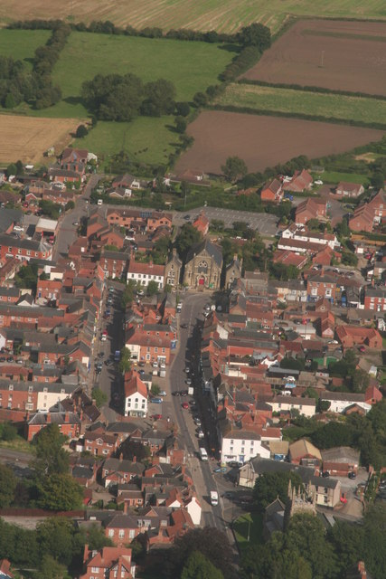 Historic centre of Spilsby: aerial 2017 (2)