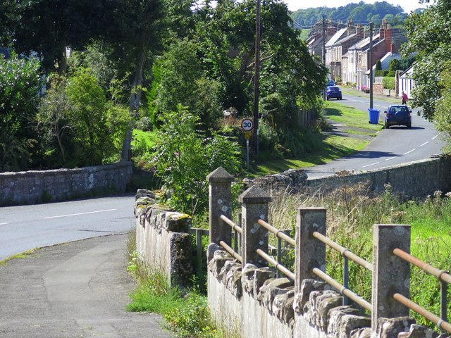 Castle Street, Norham at Mill Burn Bridge