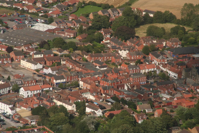 Historic centre of Spilsby: aerial 2017 (3)