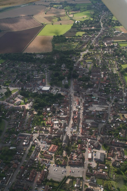 Spilsby through Hundleby: aerial 2017