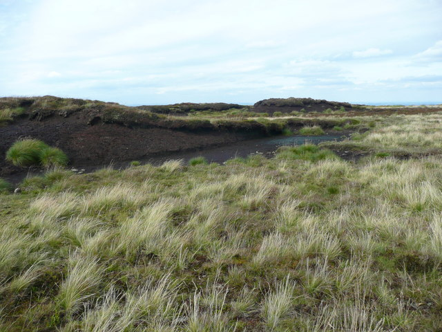 A peat cliff on Holme Edge