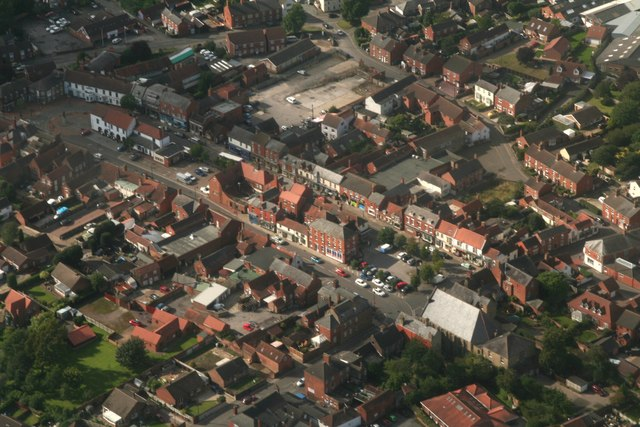 Historic centre of Spilsby: aerial 2017 (4)