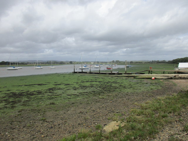 Landing stage and Fishbourne Channel