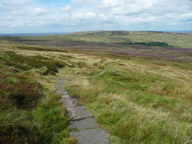 The Pennine Way descending towards Dean Clough