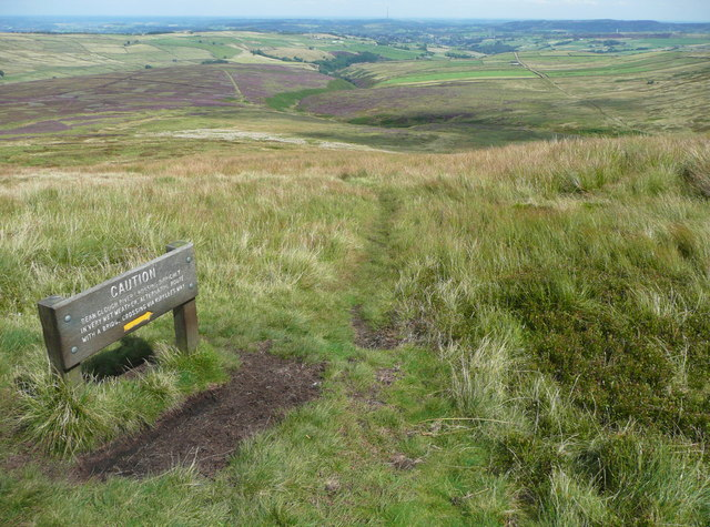 Path junction on the Pennine Way