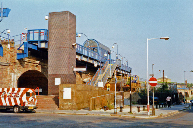 Limehouse station, exterior 1997