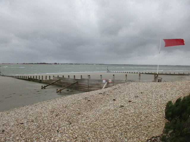 Breakwaters at the mouth of Chichester Harbour