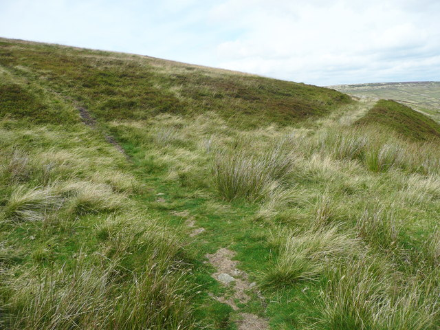Junction on paths leading to the Pennine Way