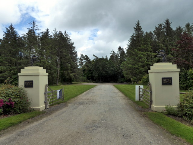 Entrance Gate and Road to Picton Castle and Park