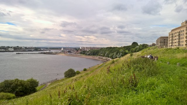 Mouth of River Tyne looking from Tynemouth.........