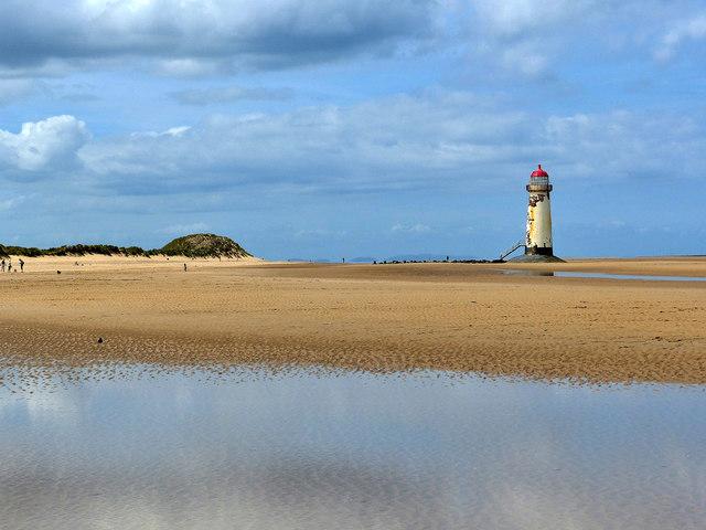 Talacre Beach and Lighthouse