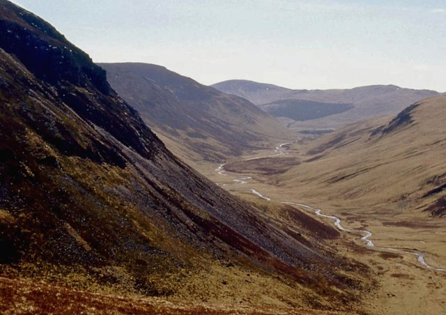 Looking down Glen Taitneach