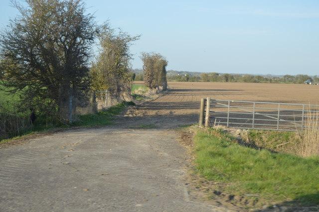 Flat farmland