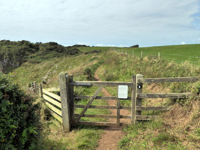 Gate on Pembrokeshire Coast Path near Lydstep
