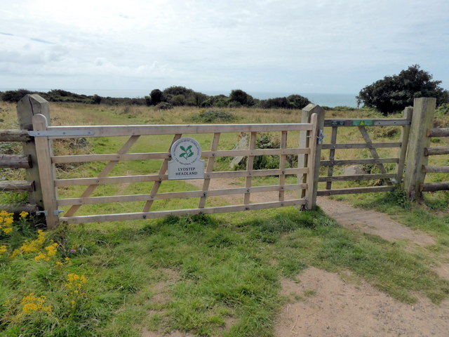 Gate at Entrance to Lydstep Headland