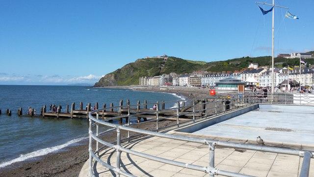 Aberystwyth in the sunshine