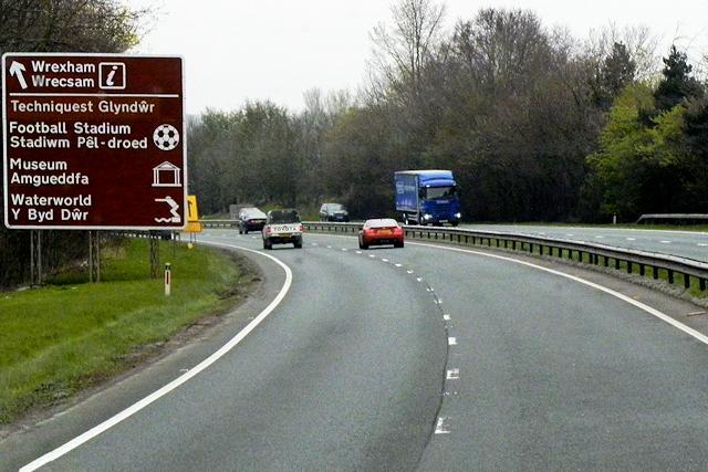 A483 near Wrexham Technology Park