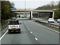 SJ3251 : A483 at Mold Road Interchange by David Dixon
