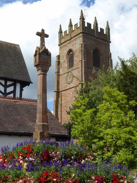 The cross and church tower