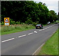 ST9997 : Warning sign - bends for three-quarters of a mile, Kemble by Jaggery