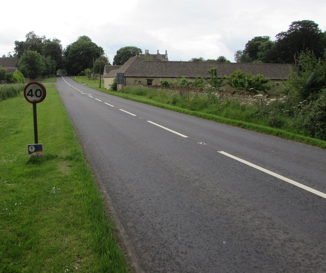 40mph speed limit sign, Kemble