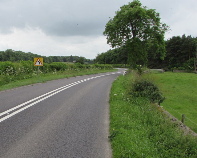 Warning sign - bend on the A429 near Kemble
