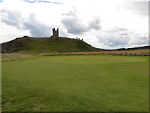 NU2522 : Golf course and castle by Stephen Craven