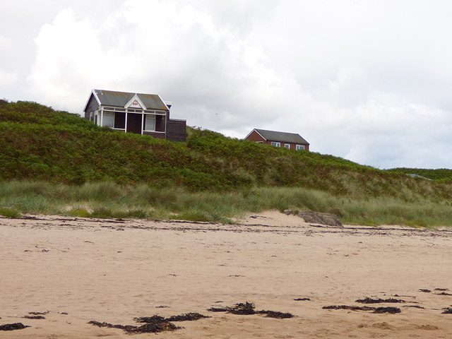 Beach huts by Embleton Bay