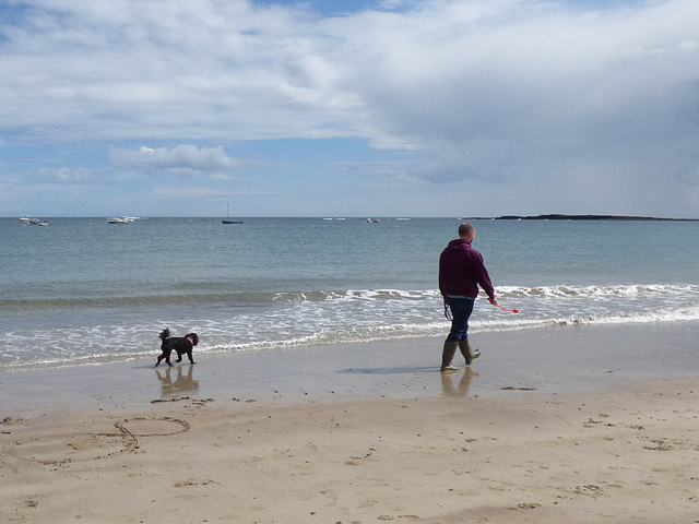 Newton Haven with man and dog
