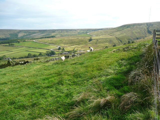 View towards the Holme Moss road from Cliff Road, Holme
