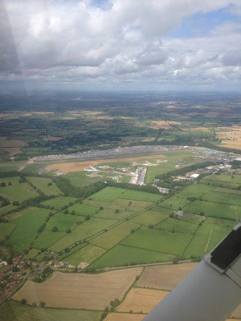 Bruntingthorpe Aerodrome in the distance