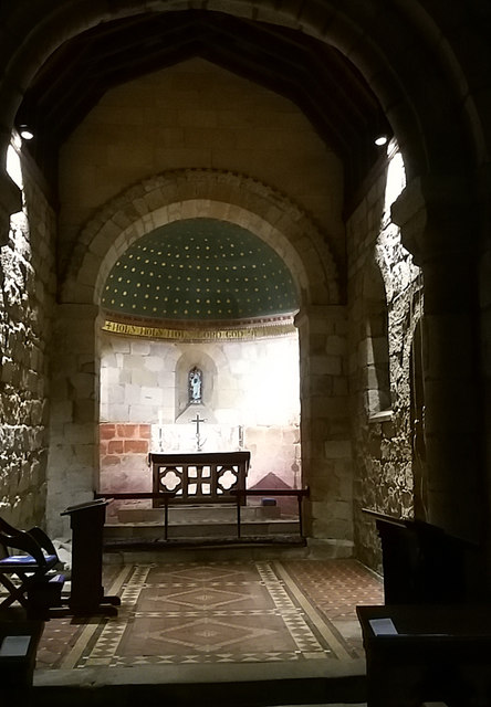 Holy Trinity Chapel, Old Bewick - interior