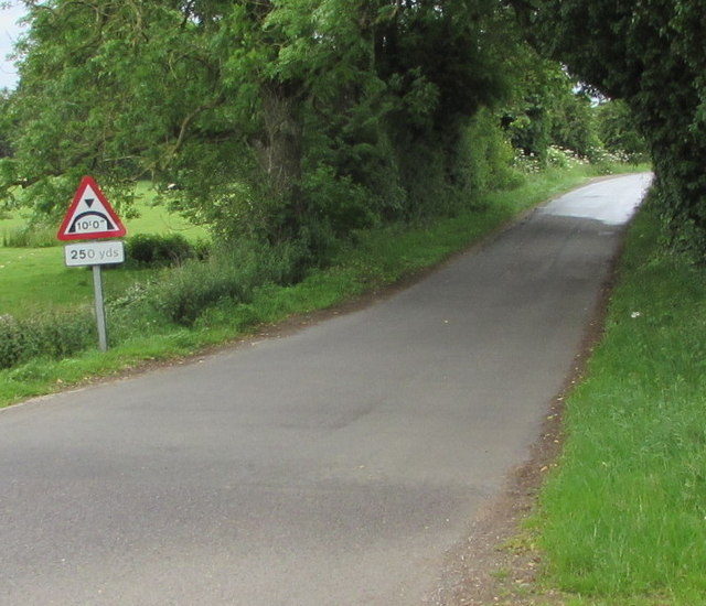 Warning sign on the road to Ewen - low arch bridge ahead
