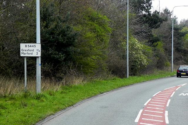 B5445, Chester Road, near Pandy