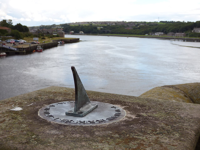 Sundial on Berwick Bridge - detail
