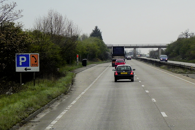 Layby on the A483 (northbound)