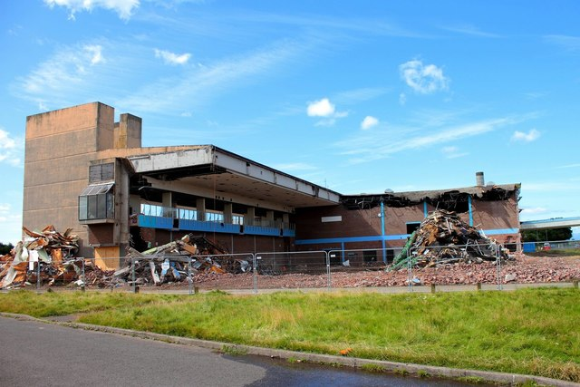 Magnum Leisure Centre being Demolished