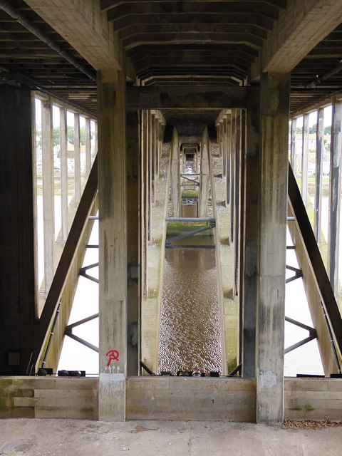 Under the Royal Tweed Bridge.