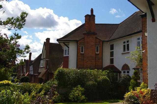 Suburban houses, Bourne Avenue, Southgate