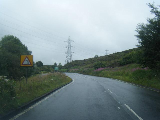 A640 Huddersfield Road near Haugh Hey