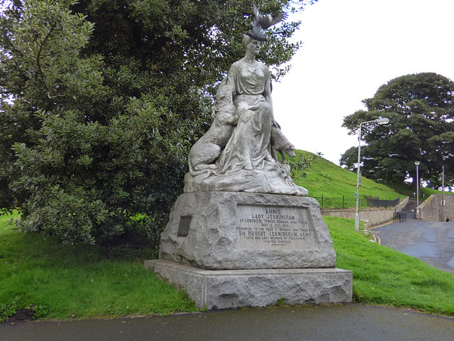 Lady Jerningham's statue, Bank Hill, Berwick-upon-Tweed
