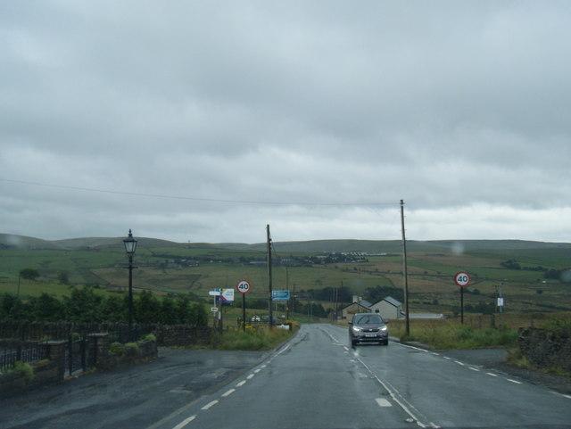 A640 Rochdale Road at Cherry Top Farm