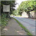 SO1912 : A467 distances sign in Brynmawr 25 miles from Newport by Jaggery