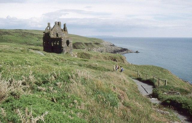 Approaching Dunskey Castle