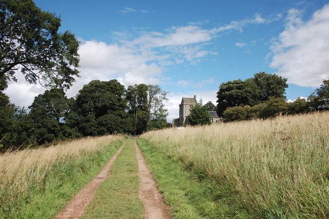 Track to Crichton Castle