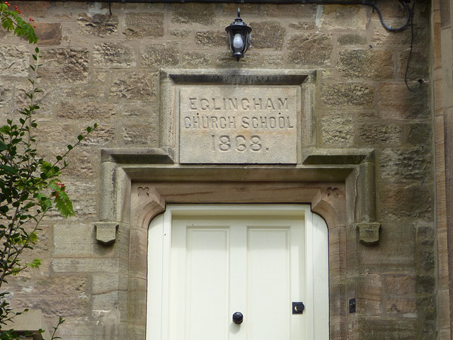Former village school, Eglingham  - datestone