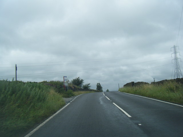B6114 Saddleworth Road at Krumlin